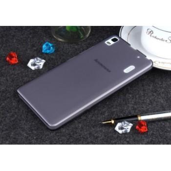 Чехол силиконовый прозрачный Silicone Matte Gloss Case Black для Lenovo А7000