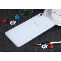 Чехол силиконовый прозрачный Silicone Matte Gloss Case White для Lenovo А7000