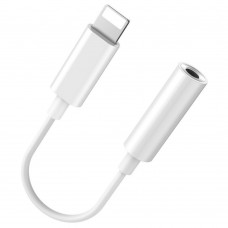Кабель Baseus L30 Simple Apple Connector to 3,5mm Music Adapter белый для iPhone/iPad/iPod