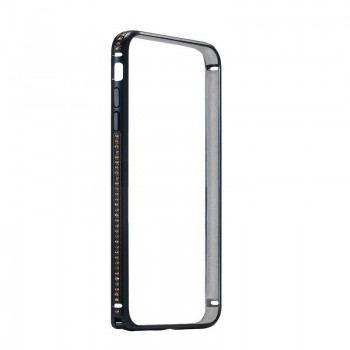 Бампер металлический Coteetci со стразами Diamond Black для iPhone 7/8