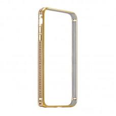 Бампер металлический Coteetci со стразами Diamond Gold для iPhone 7 Plus/8 Plus