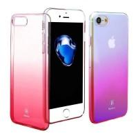 Чехол пластиковый прозрачный градиентный Baseus Glaze розовый для Apple iPhone 7 Plus/8 Plus