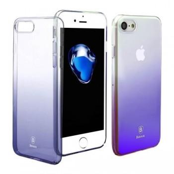 Чехол пластиковый прозрачный градиентный Baseus Glaze Violet для Apple iPhone 7/8