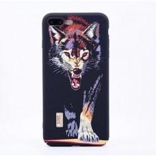 Чехол Luxo Glow Animal series для iPhone 7 Plus/ 8 Plus Wolf