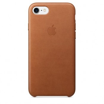 Чехол кожаный Apple Leather Case Sadle Brown для iPhone 7/8