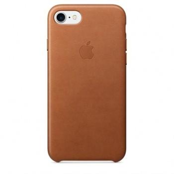 Чехол кожаный Apple Leather Case Sadle Brown для iPhone 7/8