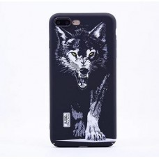 Чехол Luxo Glow Animal series для iPhone 7 Black Wolf