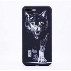 Чехол Luxo Glow Animal series для iPhone 7 Plus/8 Plus Black Wolf
