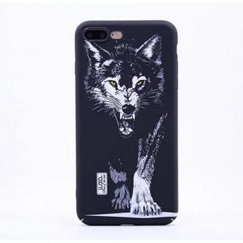 Чехол пластиковый Luxo Glow Animal Black Wolf для iPhone 7/8