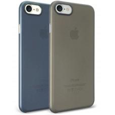 Чехол силиконовый O!coat Jelly+Pocket 2 in 1 case Black/Dark Blue для iPhone 7/8