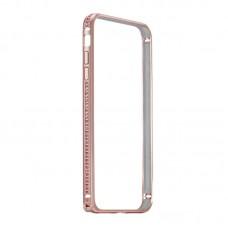 Бампер металлический Coteetci со стразами Diamond Rose для iPhone 7/8
