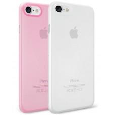 Чехол силиконовый O!coat Jelly+Pocket 2 in 1 case Pink/Clear для iPhone 7/8