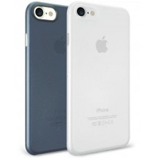 Чехол силиконовый O!coat Jelly+Pocket 2 in 1 case Dark Blue/Clear для iPhone 7/8