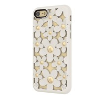 Чехол силиконовый SwitchEasy Fleur 3D Case Arctic White для Apple iPhone 7/8
