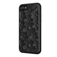 Чехол силиконовый SwitchEasy Fleur 3D Case Black для Apple iPhone 7/8