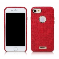 Чехол кожаный REMAX Maso Series Crocodile Leather Coated Hard Case Red для iPhone 7/8
