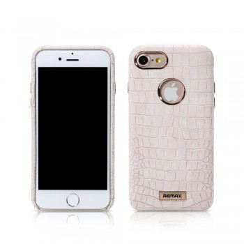 Чехол кожаный REMAX Maso Series Crocodile Leather Coated Hard Case White для iPhone 7/8