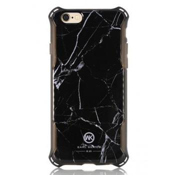 Чехол пластиковый WK Earl Marble Black для Apple iPhone 7/8 Plus
