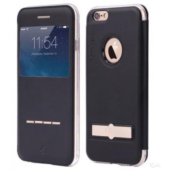 Чехол-книжка кожаная TOTU Touch Series Black для iPhone 7/8 plus