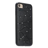 Чехол силиконовый со стразами Coteetci Star Black для iPhone 7/8