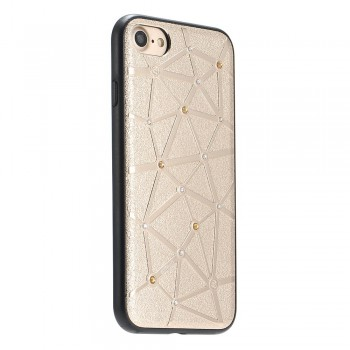 Чехол силиконовый со стразами Coteetci Star Gold для iPhone 7/8