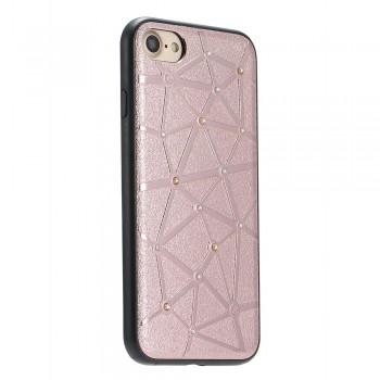 Чехол силиконовый со стразами Coteetci Star Rose Gold для iPhone 7/8