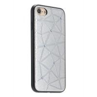 Чехол силиконовый со стразами Coteetci Star Silver для iPhone 7/8