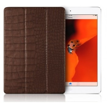 Чехол Verus Crocodile Leather Case Brown для iPad 2017