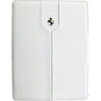 "Чехол Ferrari Montecarlo Leather White для iPad 9.7"" (2017/2018)"