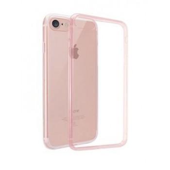 Чехол пластиковый O!coat Crystal+Dual Crystal shock-protection Transparent Pink для iPhone 7/8