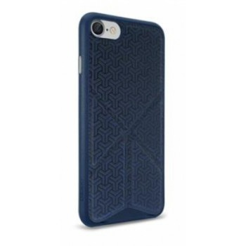 Чехол пластиковый O!coat 0.3+Totem Versatile Dark Blue для iPhone 7/8