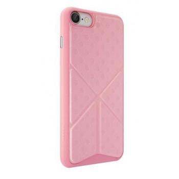 Чехол пластиковый O!coat 0.3+Totem Versatile Pink для iPhone 7/8
