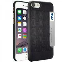 Чехол пластиковый O!coat 0.3+Pocket Black для iPhone 7/8