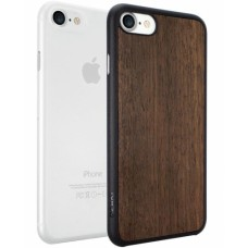 Чехлы пластиковые O!coat Jelly+Wood case Ebony/Clear для iPhone 7/8