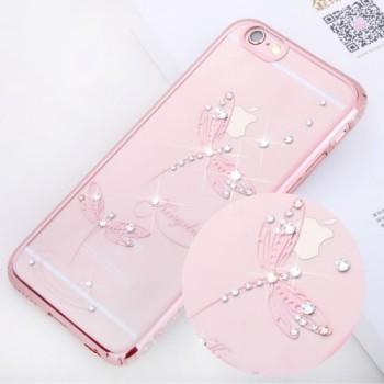 Чехол пластиковый Kingxbar Classic Series Jade Dragonfly Rose Gold для iPhone 7/8