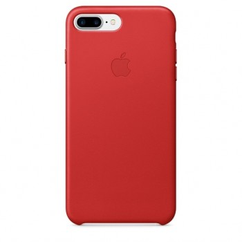 Чехол Apple Leather Case Red для iPhone 7 Plus/ 8 Plus