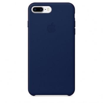 Чехол кожаный Apple Leather Case Dark Blue для iPhone 7/8