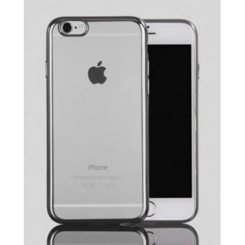 Чехол силиконовый прозрачный с окантовкой Silver для iPhone 7/8