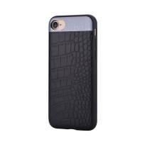 Чехол Comma Croco 2 Leather Case Black для iPhone 7/8