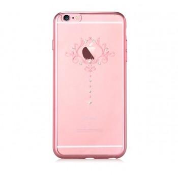 Чехол пластиковый Devia Crystal Iris soft case Rose Gold для Apple iPhone 7/8