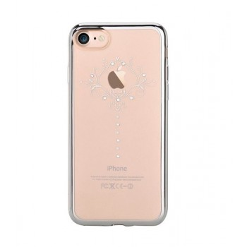 Чехол пластиковый Devia Crystal Iris Soft Case Silver для Apple iPhone 7/8