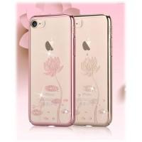 Чехол прозрачный Devia Crystal Lotus Champagne Gold для Apple iPhone 7/8