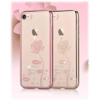 Чехол пластиковый Devia Crystal Lotus Rose Gold для Apple iPhone 7/8