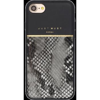 Чехол пластиковый Just Must Fendi II Black для iPhone 7/8