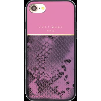 Чехол пластиковый Just Must Fendi II Pink для iPhone 7/8