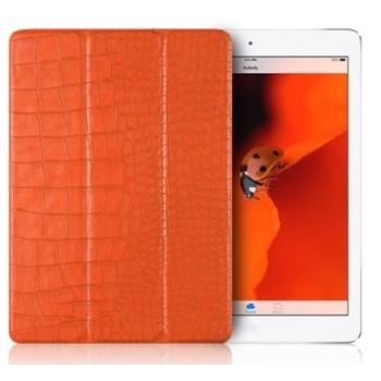 Чехол Verus Crocodile Leather Case Orange для iPad 2017