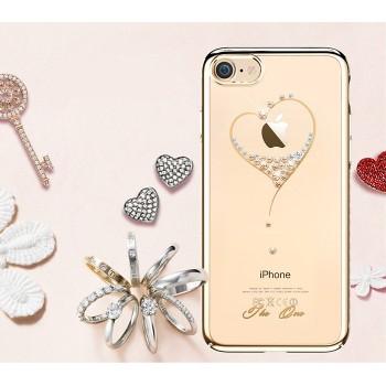 Чехол пластиковый Kingxbar Heart Gold для iPhone 7/8
