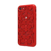 Чехол силиконовый SwitchEasy Fleur 3D Case Red для Apple iPhone 7 Plus/8 Plus