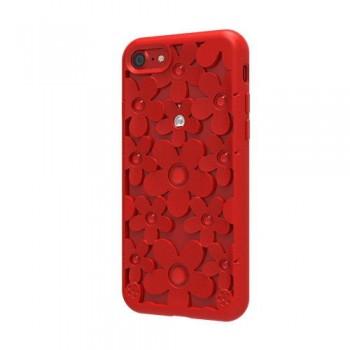 Чехол силиконовый SwitchEasy Fleur 3D Case Red для Apple iPhone 7/8