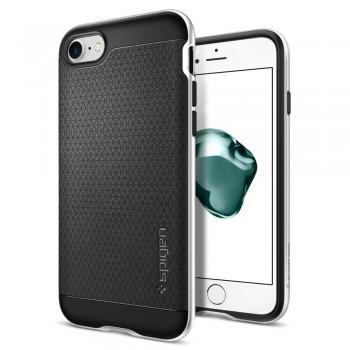 Чехол пластиковый Spigen Case Neo Hybrid Satin Silver для iPhone 7/8